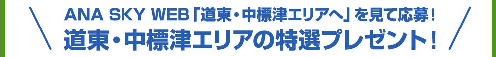 ANA SKY WEB「道東・中標津エリアへ」を見て応募!道東・中標津エリアの特選プレゼント!